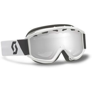 Scott Junior Hook up, White/Silver Chrome - Skibrille