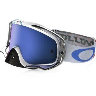 Oakley Crowbar MX, high octane red white blue/Lens: black ice iridium - MX Brille