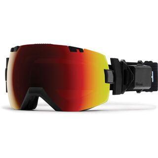 Smith I/OX Turbo Fan inkl. Wechselscheibe, black/Lens: sun red mirror chromapop - Skibrille