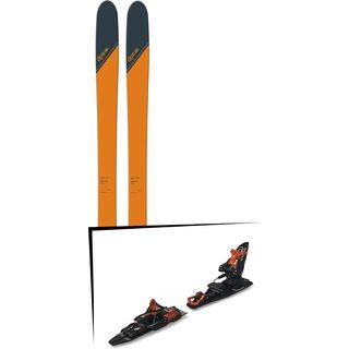 Set: DPS Skis Wailer 99 Tour1 2018 + Marker Kingpin 13 Demo black/copper