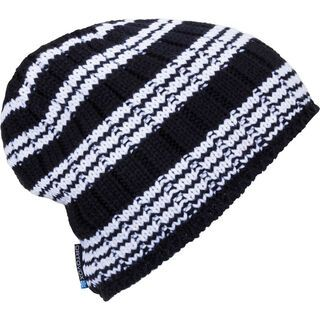 Ortovox Beanie Rock 'n' Wool Stripe, black raven - Mütze