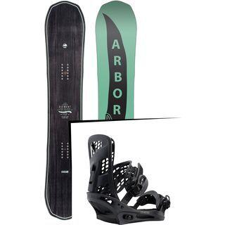 Set: Arbor Element 2017 + Burton Genesis 2017, black - Snowboardset