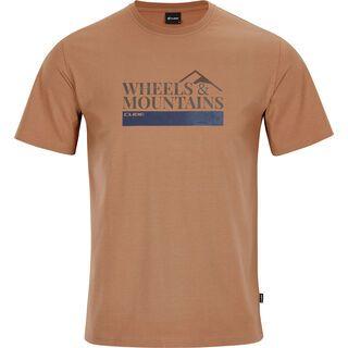Cube Organic T-Shirt Wheels & Mountains brown
