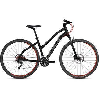 Ghost Square Cross 7.8 W AL 2018, black/gray/neon red - Fitnessbike