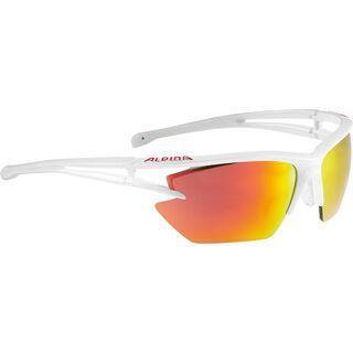 Alpina Eye-5 HR S, white matt/Lens: ceramic red mirror - Sportbrille