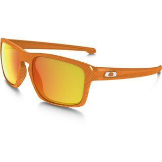 Oakley Sliver Fingerprint, atomic orange/Lens: fire iridium - Sonnenbrille