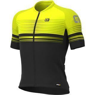 Ale Slide Jersey, black-fluo yellow - Radtrikot