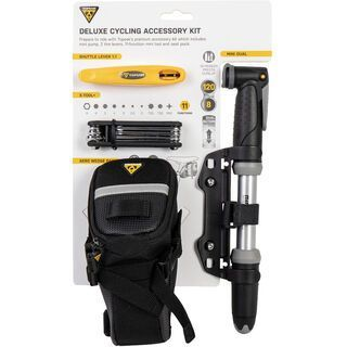 Topeak Deluxe Cycling Accessory Kit + Mini-Pumpe / Mini-Tool / Reifenheber - Satteltasche