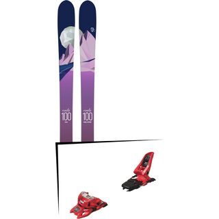 Set: Icelantic Oracle 100 2018 + Marker Squire 11 ID red