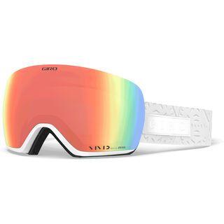 Giro Lusi inkl. WS, white flake/Lens: vivid pink - Skibrille
