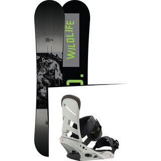 Set: Ride Wild Life Wide 2017 + Burton Mission 2017, gnarly sheen - Snowboardset