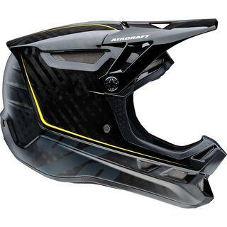 100% Aircraft DH Helmet, raw black - Fahrradhelm