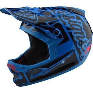 TroyLee Designs D3 Fiberlite Helmet Factory, ocean - Fahrradhelm