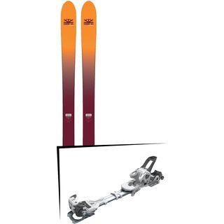 Set: DPS Skis Wailer F99 Foundation 2018 + Tyrolia Ambition 12 AT solid white black