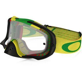 Oakley Crowbar MX, boi hazard rasta/Lens: clear - MX Brille