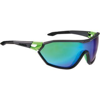 Alpina Alpina S-Way CM, coal matt green/Lens: green mirror - Sportbrille