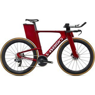 Specialized S-Works Shiv Disc SRAM Red eTap AXS 2020, metallic crimson/dove grey - Triathlonrad
