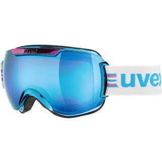 uvex Downhill 2000 Race Chrome, cyan-chrome/Lens: mirror blue - Skibrille