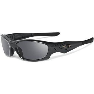 Oakley Straight Jacket, Polished Black/Black Iridium Polarized - Sonnenbrille