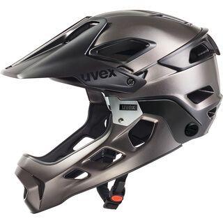 uvex jakkyl hde, black-dark slvr mt - Fahrradhelm