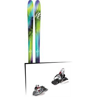 Set: K2 SKI Fulluvit 95 2017 + Marker Free Ten 100 mm, white/black/anthracite - Skiset
