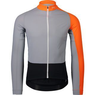 POC Essential Road Mid LS Jersey granite grey/zink orange