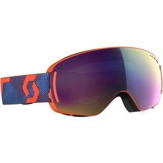 Scott LCG Compact inkl. WS, grenadine orange/Lens: enhancer teal chrome - Skibrille