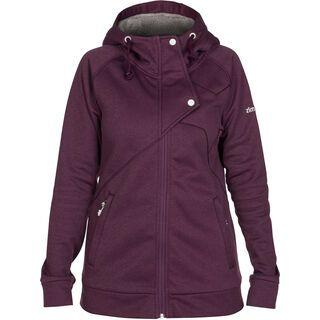 Zimtstern Jozi Fleece Jacket, plum heather - Fleecejacke