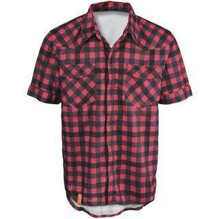 Scott Shirt Button Roarban s/sl, red/dark purple - Radtrikot
