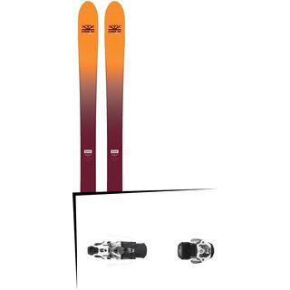 Set: DPS Skis Wailer F99 Foundation 2018 + Atomic Warden MNC 13 gun metal/white