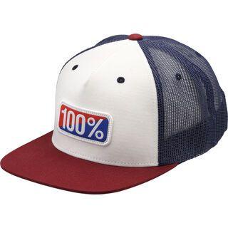 100% Americana Snapback Hat, white - Cap