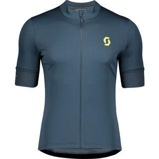 Scott Endurance 10 S/Sl Men's Shirt, nightfall blue/lemongrass yellow - Radtrikot