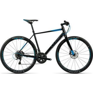 Cube SL Road Race 2016, black grey blue - Fitnessbike