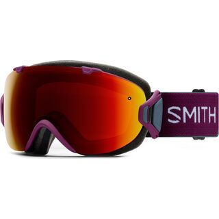 Smith I/OS inkl. Wechselscheibe, grape split/Lens: chromapop sun red mirror - Skibrille