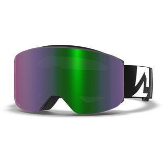 Marker Squadron+ inkl. WS, black/Lens: green plasma mirror - Skibrille