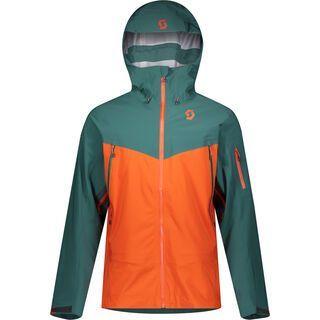 Scott Explorair DRX 3L Men's Jacket, jasper green/orange pumpkin - Skijacke