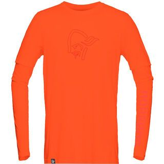 Norrona /29 tech long sleeve Shirt (M), scarlet ibis - Radtrikot