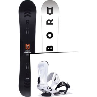 Set: Arbor Formula Mid Wide 2017 + Ride Revolt, white - Snowboardset
