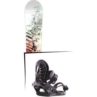 Set: Nitro Lectra 2017 + K2 Charm 2015, black - Snowboardset