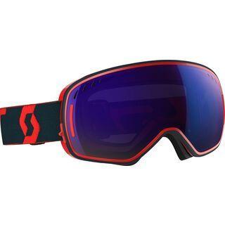 Scott LCG, red/blue/Lens: solar blue chrome - Skibrille