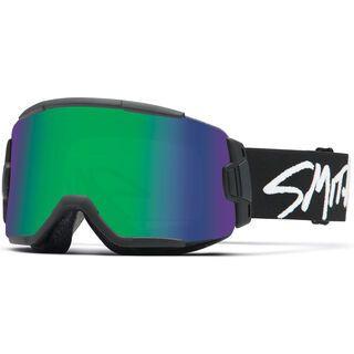 Smith Squad, black/Lens: green sol-x mirror