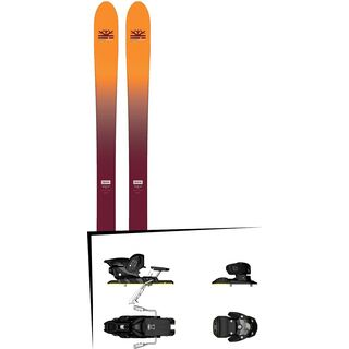 Set: DPS Skis Wailer F99 Foundation 2018 + Salomon Warden MNC 13 silver/black