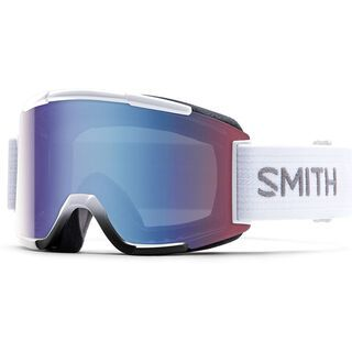 Smith Squad + Spare Lens, white/blue sensor mirror - Skibrille