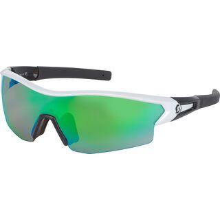 Scott Leap + Spare Lens, white glossy/black green chrome - Sportbrille