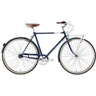 Creme Cycles Caferacer Man Doppio 2015, deep blue - Cityrad