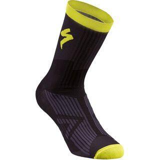 Specialized SL Elite Summer Sock, black/neon yellow - Radsocken