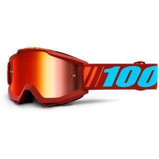 100% Accuri, dauphine/Lens: mir red - MX Brille