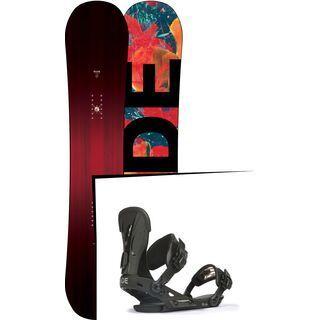 Set: Ride Saturday 2017 + Ride VXN 2017, black - Snowboardset