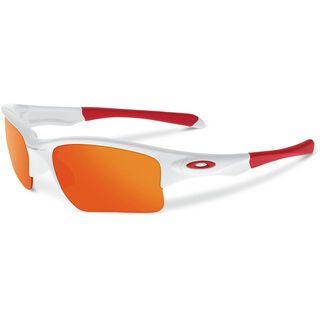 Oakley Quarter Jacket, polished white/fire iridium - Sportbrille