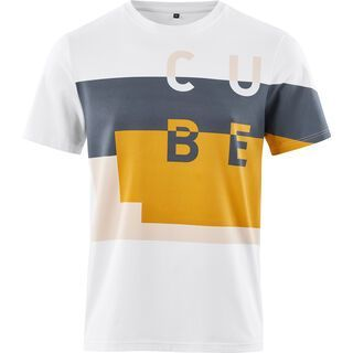 Cube T-Shirt The Service Course white´n´blue´n´yellow